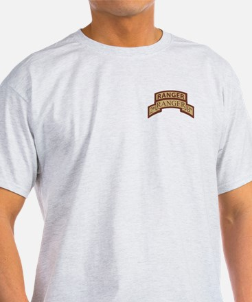 2nd Ranger Bn Scroll/Tab Dese T-Shirt
