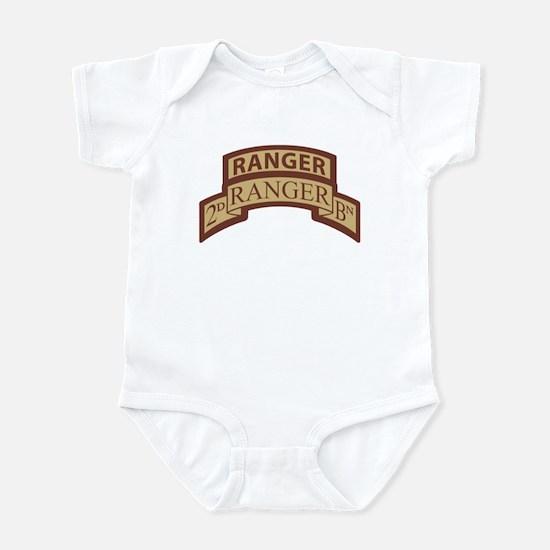 2nd Ranger Bn Scroll/Tab Dese Infant Bodysuit