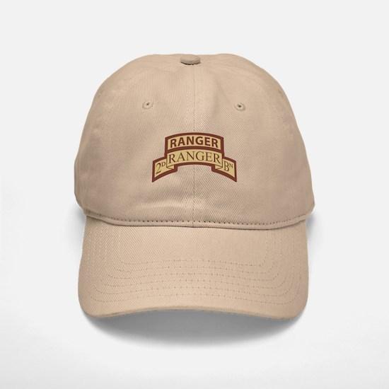 2nd Ranger Bn Scroll/Tab Dese Baseball Baseball Cap