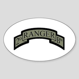 2D Ranger BN Scroll ACU Oval Sticker