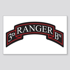 3D Ranger BN Scroll Rectangle Sticker