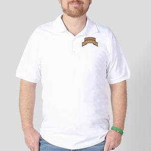 3rd Ranger Bn Scroll/Tab Dese Golf Shirt