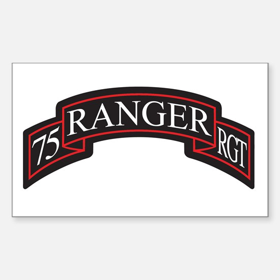 75 Ranger RGT scroll Rectangle Decal
