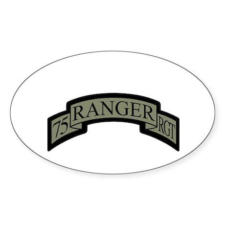 75th Ranger Regt Scroll ACU Oval Sticker