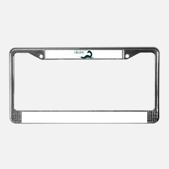Nessi - I believe License Plate Frame