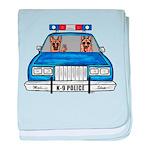 K-9 Police baby blanket