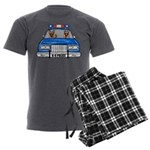 K-9 Police Men's Charcoal Pajamas