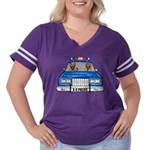 K-9 Police Women's Plus Size Football T-Shirt