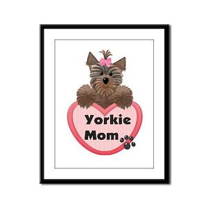 Yorkie Mom Framed Panel Print