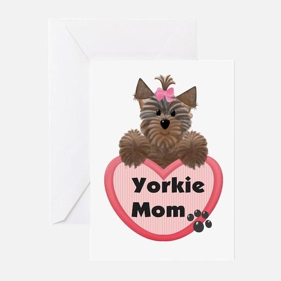 Yorkie Mom Greeting Cards (Pk of 10)