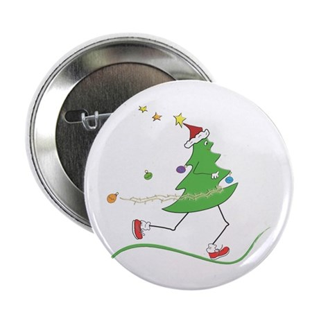 "Christmas Tree Runner 2.25"" Button (10 pack)"