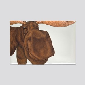 moose head antlers Rectangle Magnet