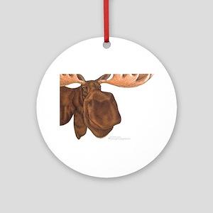 moose head antlers Ornament (Round)