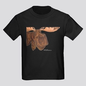 moose head antlers Kids Dark T-Shirt