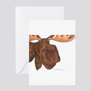 moose head antlers Greeting Card