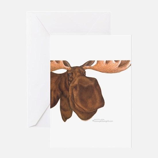 moose head antlers Greeting Card