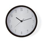 Brushed Aluminum Wall Clock