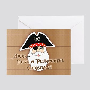 Pirate Santa Greeting Card