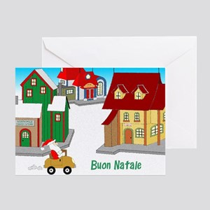 Downtown Santa - italian Greeting Card