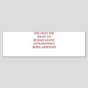 silent Bumper Sticker