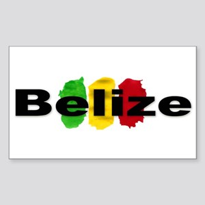 Belize Rectangle Sticker