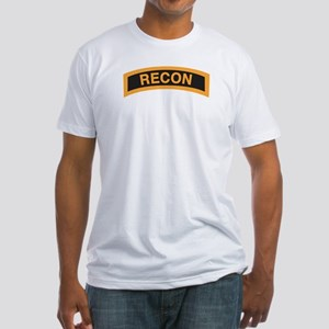 Recon Tab Black and Gold Fitted T-Shirt