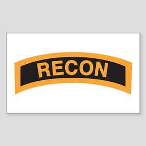 Recon Tab Black and Gold Rectangle Sticker