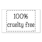100% Cruelty Free Sticker (Rectangle 50 pk)