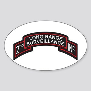 2nd INF LRS Scroll, Color Oval Sticker