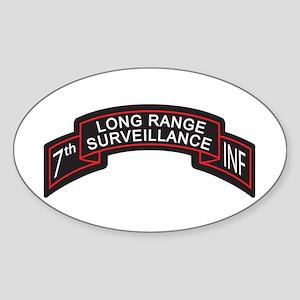 7th Infantry LRS Scroll, Clr Oval Sticker