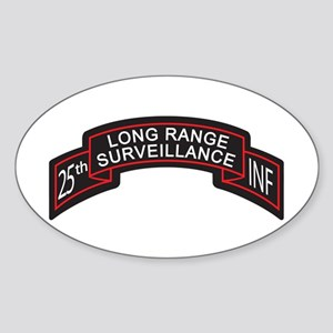 25th INF LRS Scroll Color Oval Sticker