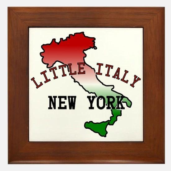 Little Italy New York Framed Tile