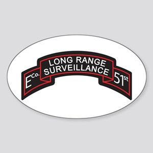 E Co 51st Infantry LRS Scroll Oval Sticker