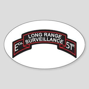 E Co 51st Infantry LRS Scroll Oval Sticker