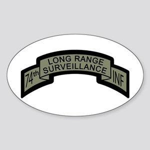 74th LRS Scroll with Ranger T Oval Sticker