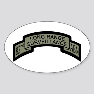 82nd Airborne Long Range Surv Oval Sticker