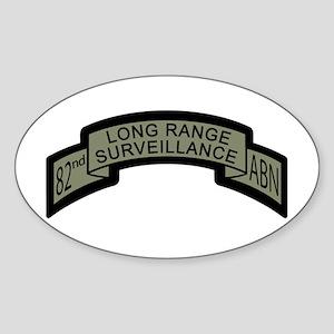 82nd Airborne Long Range Surv Oval Sticker