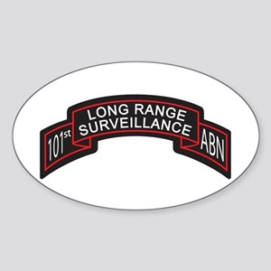 101st Airborne LRS Scroll, Cl Oval Sticker
