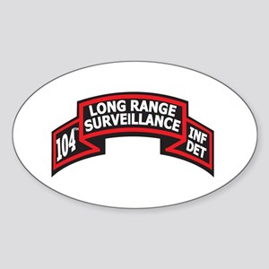 104th LRS Scroll Oval Sticker