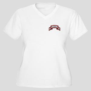 104th LRS Scroll Women's Plus Size V-Neck T-Shirt