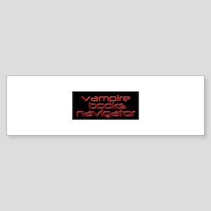 Vampire Books Navigator Bumper Sticker