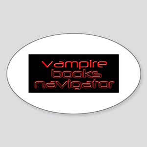 Vampire Books Navigator Oval Sticker