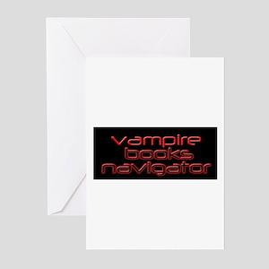 Vampire Books Navigator Greeting Cards (Pk of 20)