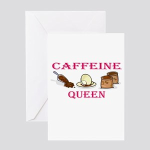 Caffeine Queen Greeting Card