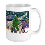 XmsMagic-GShep-2cats Large Mug