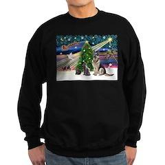 XmsMagic-GShep-2cats Sweatshirt (dark)