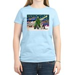 XmsMagic-GShep-2cats Women's Light T-Shirt
