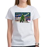 XmsMagic-GShep-2cats Women's T-Shirt
