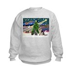 XmsMagic-GShep-2cats Kids Sweatshirt