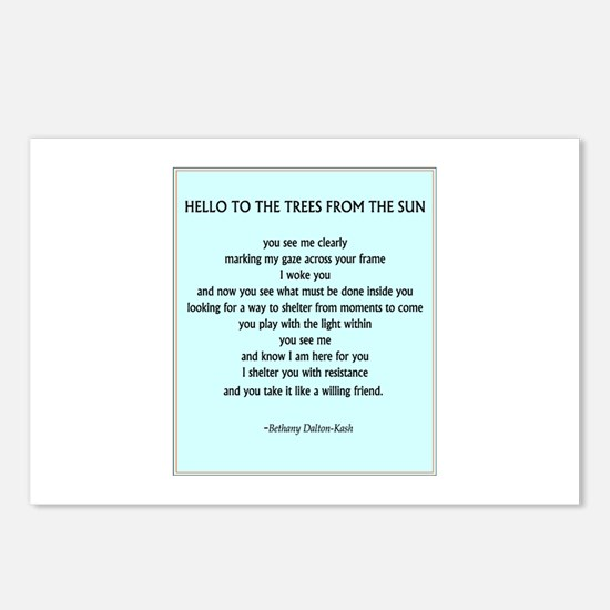 Funny Tree poem Postcards (Package of 8)
